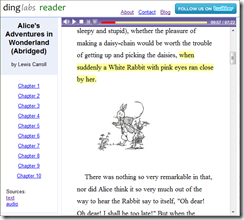 dinglabs.com Reader screenshot